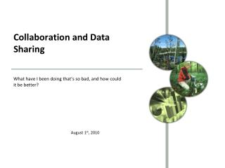 Collaboration and Data Sharing
