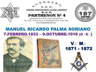 MANUEL RICARDO PALMA SORIANO