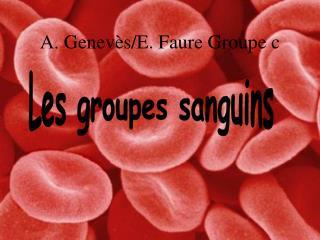A.  Genevès /E.  Faure Groupe  c