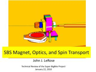 SBS Magnet, Optics, and Spin Transport