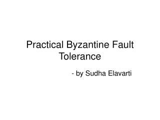 Practical Byzantine Fault Tolerance