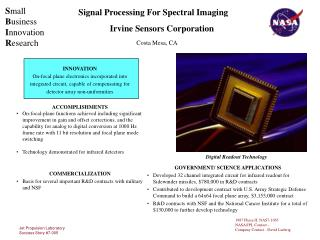 Signal Processing For Spectral Imaging