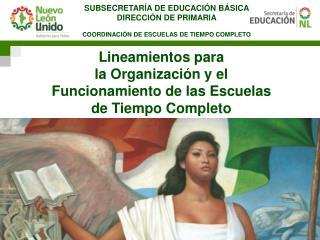 SUBSECRETARÍA DE EDUCACIÓN BÁSICA DIRECCIÓN DE PRIMARIA