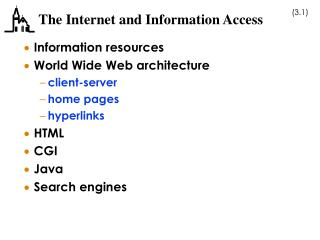 The Internet and Information Access