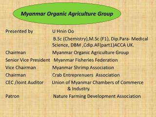 Myanmar Organic Agriculture Group