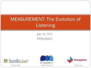 MEASUREMENT: The Evolution of Listening
