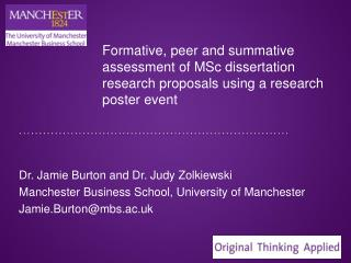 Dr. Jamie Burton and Dr. Judy Zolkiewski Manchester Business School, University of Manchester