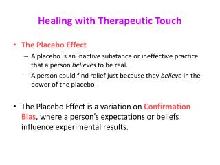 Healing with Therapeutic Touch