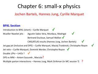 Chapter 6: small-x physics