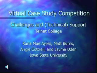 Virtual Case Study Competition