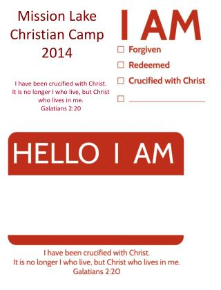 Mission Lake Christian Camp 2014