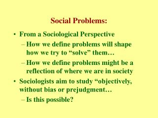Social Problems: