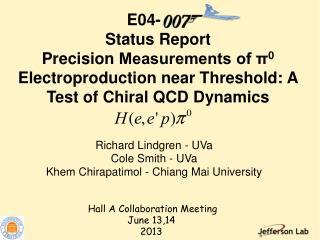 Richard Lindgren - UVa Cole  Smith - UVa Khem Chirapatimol - Chiang Mai University