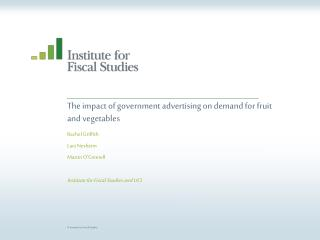 The impact of government advertising on demand for fruit and vegetables