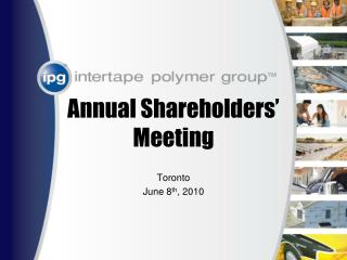 Annual Shareholders' Meeting