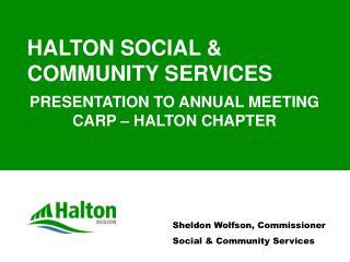 HALTON SOCIAL & COMMUNITY SERVICES