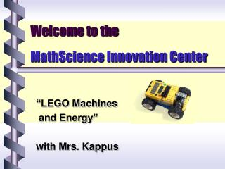 Welcome to the  MathScience Innovation Center