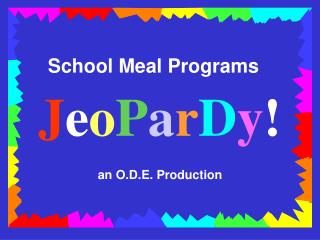 School Meal Programs