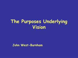 The Purposes Underlying Vision