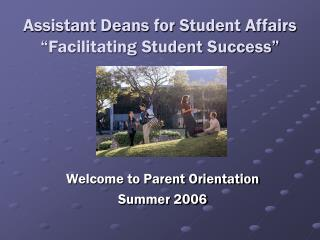 "Assistant Deans for Student Affairs ""Facilitating Student Success"""