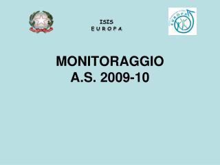 MONITORAGGIO A.S. 2009-10