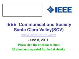 IEEE  Communications Society Santa Clara Valley(SCV)