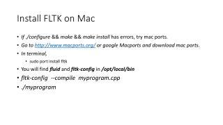Install FLTK on Mac
