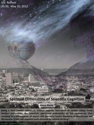 Spiritual Dimensions of Scientific Cognition