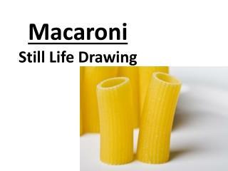 Macaroni   Still Life Drawing