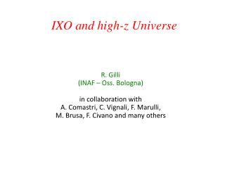 IXO and high- z  Universe