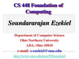 CS 448 Foundation of Computing