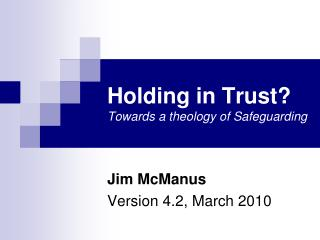 Holding in Trust? Towards a theology of Safeguarding