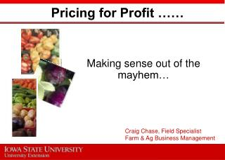 Pricing for Profit ��