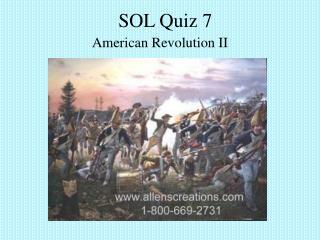 SOL Quiz 7