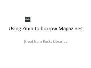 Using Zinio to borrow Magazines