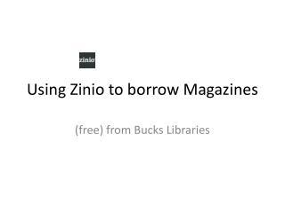 Using Zinio to borrow Magazines