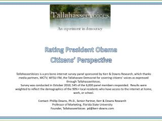 Rating President Obama Citizens' Perspective