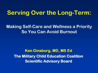 Serving Over the Long-Term: Making Self-Care and Wellness a Priority So You Can Avoid Burnout