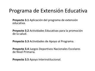 Programa de Extensión Educativa