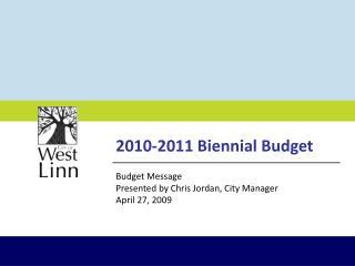 2010-2011 Biennial Budget