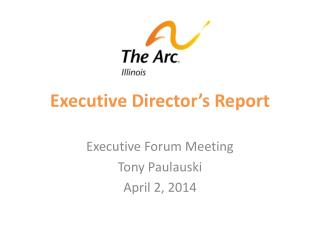 Executive Director's Report
