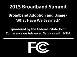 2013 Broadband Summit Broadband Adoption and Usage - What Have We Learned?