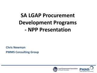 SA LGAP Procurement Development Programs - NPP Presentation