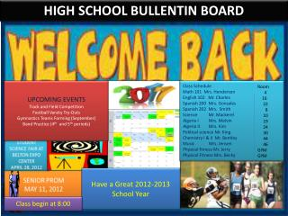 HIGH SCHOOL BULLENTIN BOARD