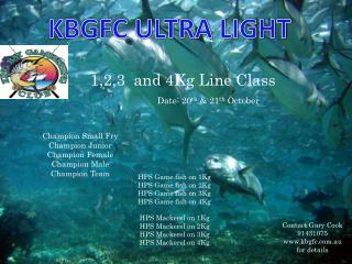 1,2,3  and 4Kg Line Class