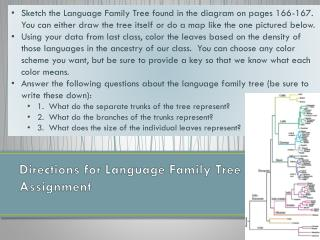 Directions for Language Family Tree Assignment