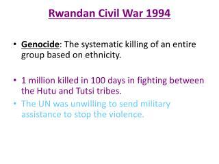 Rwandan Civil War 1994