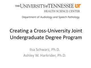 Creating a Cross-University Joint Undergraduate Degree Program