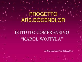 PROGETTO  ARS.DOCENDI.OR