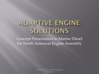 Adaptive Engine Solutions